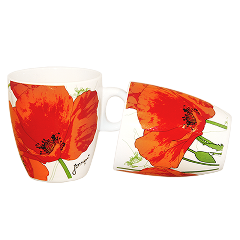 Coffee mug flowers