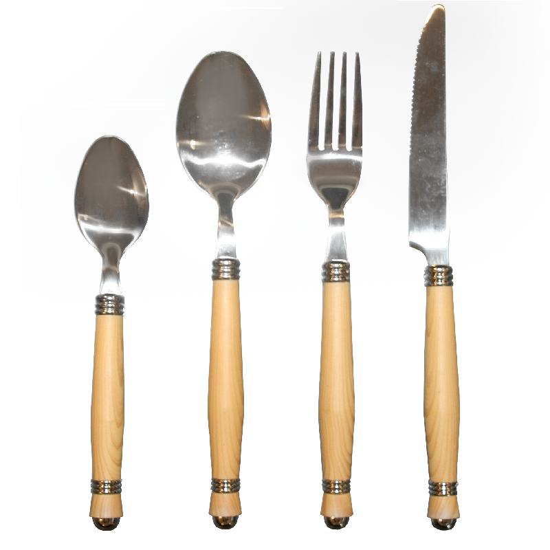 Cutlery sets wooden handels