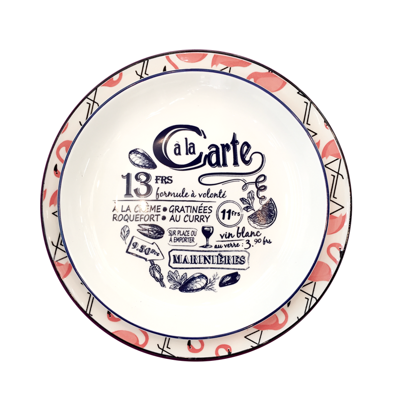 Decorated plates - Pasta plates