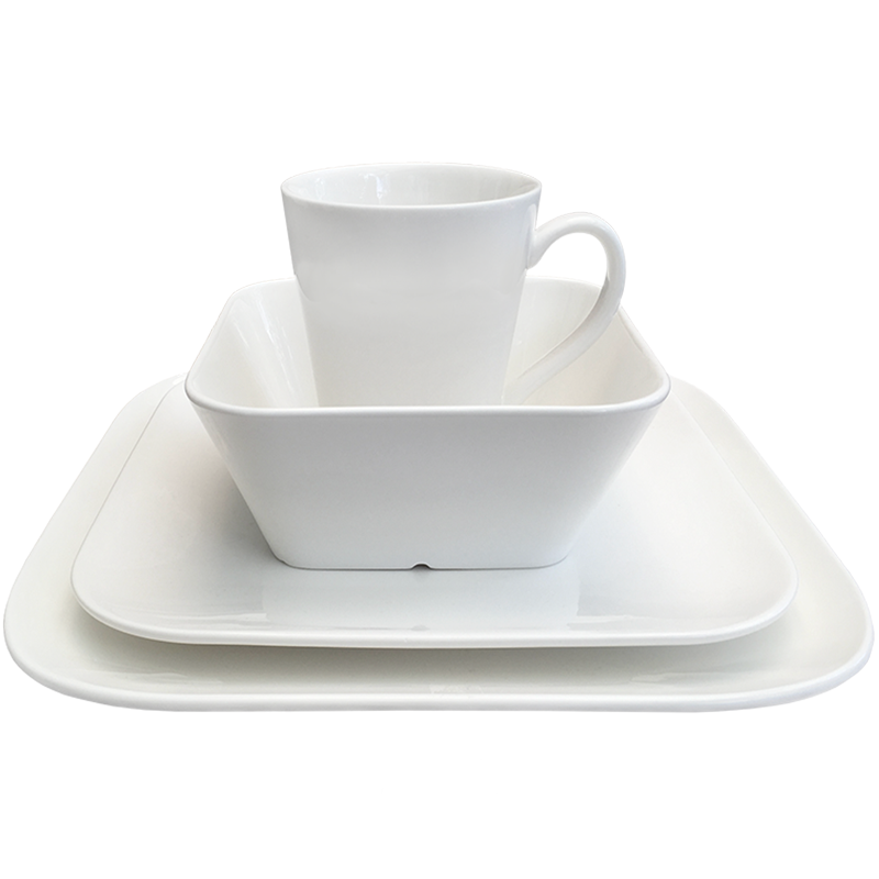 Dinnerware set soft-square New Bone China