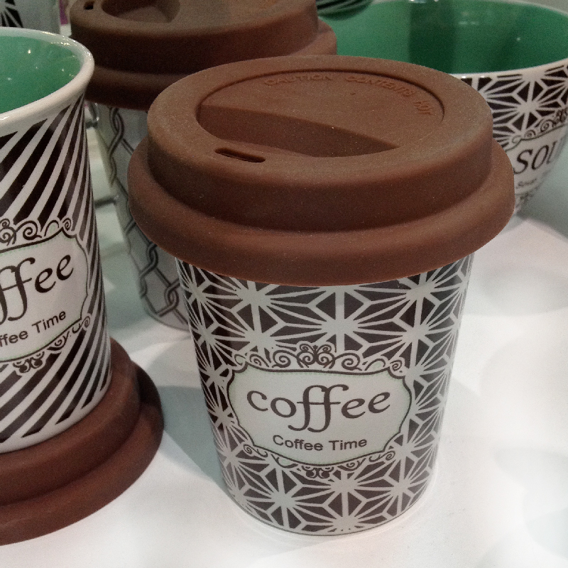 Decorated coffee mugs to go